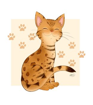 Bengal Kitty Smiles by pdutogepi