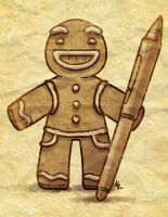 im - gingerbread man today by Beffana