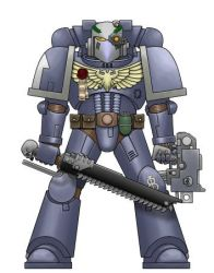 Wolves of Autumn Space Marine by ookamishichiyou