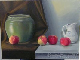 Apples and Pottery - Oils by KrisCynical