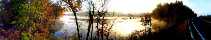 Swampy sunrise by AngelHughes