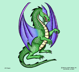 Dragon Stamp Colored by CherokeeGal1975