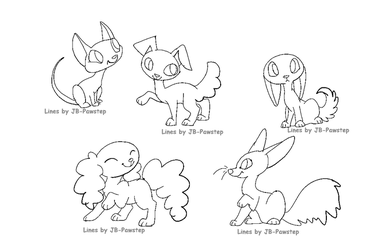 Chibi Pets - Base / Lineart by JB-Pawstep