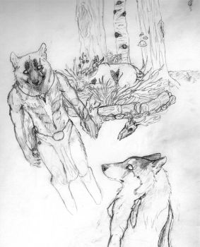 Chance encounter sketch by Ice-cold-Werewolf