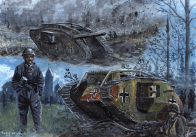 Beutepanzers - Somme and Niergnies 1918 by tuomaskoivurinne