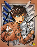 IT'S EREN JAEGER :O by Pyonni