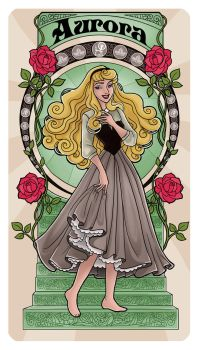 Sleeping Beauty - Art Nouveau by Paola-Tosca