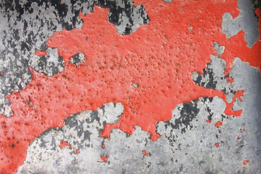 Flaking red paint by Texturegen