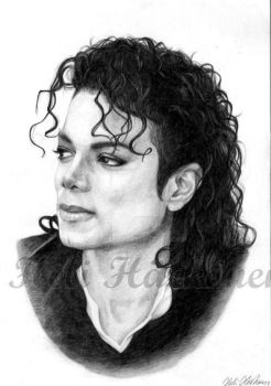 Michael Jackson - Bad portrait by hellbull