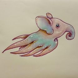 Mermay - Dumbo octopus by GamingHedgehog
