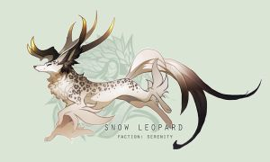 { ADVENT DAY 23 } Snow Leopard - Auction (OVER) by sordid-dessert