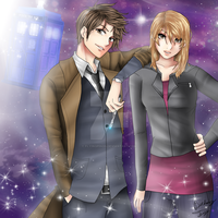 The Doctor and Rose (Commission) by FlyingPings