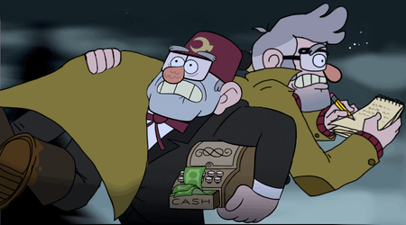Grunkle Ford and Stan run by HezuNeutral