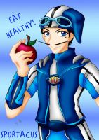 Sportacus + Eat Healthy by Aiko-Mustang