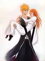 There for you: Ichigo and Orihime by Graya7
