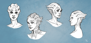 Asari Sketches by Clovernight