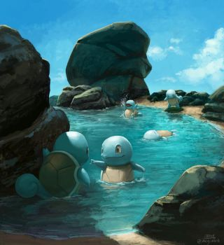 Squirtle Squad's day off by mcgmark