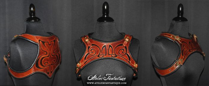 Leather harness by AtelierFantastique