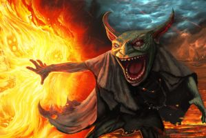 Goblin Pyrocrat by connvince