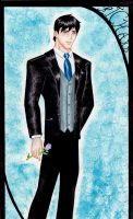 Young Justice Tuxedos: Dick by GossamerWing