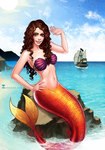 Commission: Me as mermaid :D by SoniaMatas
