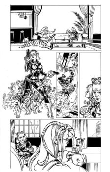 UltraVixen issue 2 Page 13 Inks by MaelstromMediaComics