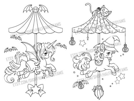 The Halloween Carousel by YamPuff