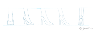 High Heeled Shoe Studies by Spocky87