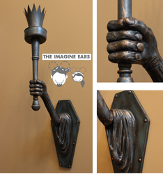 Haunted Mansion wall arm torch sconce by TheImagineEars