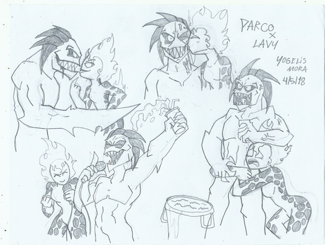 Mickeymonster: Parco and Lavy cute by yogelis