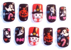 Halloween Nails by The-Lady-of-Kuo