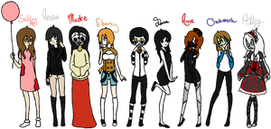 Creepypasta Girls by KingdomWielders
