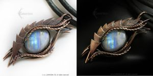 Dragon's Eye Copper and Moonstone by LUNARIEEN