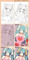 [LOL] Annie's family 21 (Preview step drawing) by beanbeancurd