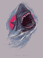 Vector Great White Shark II by depot-hdm