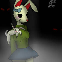 //cute to scary // Bunny Girl (undertale) by NOTRandal0