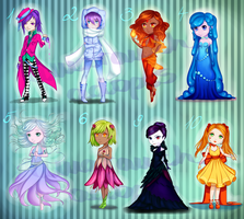 100 Adopts Challenge: #1-10 (5/8 OPEN) by AmaranthicalRose