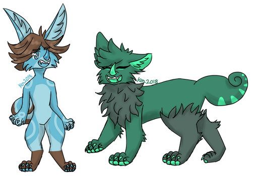 Chimereon art tradess by KenTheSparkleLord