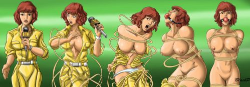 The evolution of April O' Neil by BlackProf