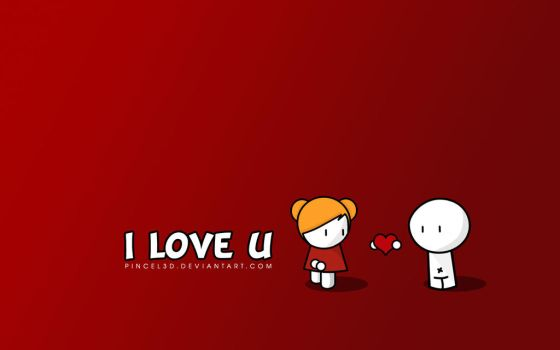 I love - Wallpaper by pincel3d