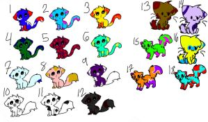 18 free adopts for sale!!CLOSED by kewlkatzz6889
