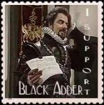 Black Adder Stamp by SirCrocodile