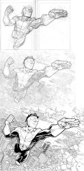Invincible poster process by RyanOttley