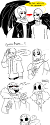 Gaster Doodles by Bunnymuse