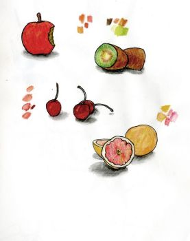 Some Random Fruits Watercolor by TheHerdman