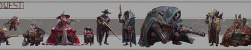 WIld West Character Line up by JasonTN
