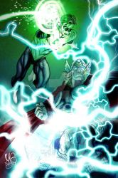 Green Lantern and Thor by MicahJGunnell