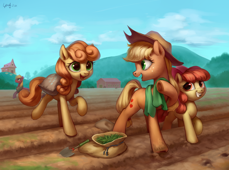 Farming Break by LUciferAmon