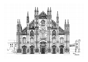 Milan Cathedral Lineart by Sthenastia