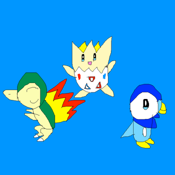 Cyndaquil, Togepi and Piplup by SuperSmashCynderLum